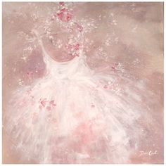"""Tutu Romantique"" Original 30 x 30 painting by Debi Coules. Available at www.debicoules.com"