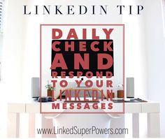 Check your LinkedIn Messages on a daily (or even more frequent) basis and respond accordingly. This shows that you value your LinkedIn connections and what they have to say to you. The more time you dedicate to actively engage with your LinkedIn Network by rapidly & effectively answering their messages, the more successful your LinkedIn efforts will be. For numerous LinkedIn Tips & Strategies, visit our Blog at: https://linkedsuperpowers.com/blog #Rapid #LinkedIn #Message #Response #Tip…