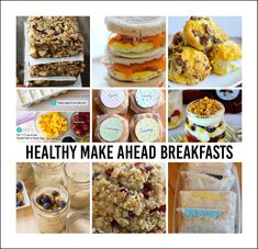 Healthy Make Ahead Breakfasts. Quick on the go breakfast ideas and recipe.
