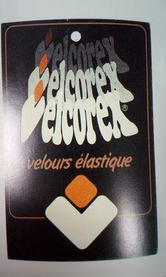 Etiquette Velcorex - Velours élastique