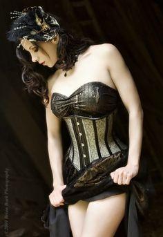Beautiful Steampunk Girl in Corset