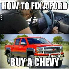 My boyfriend loves ford and I love chevy. so i have to pick with him about it. (: