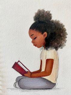 Black Love Art, Black Girl Art, My Black Is Beautiful, Art Girl, African American Art, African Art, Black Girl Cartoon, Black Artwork, Black Art Painting
