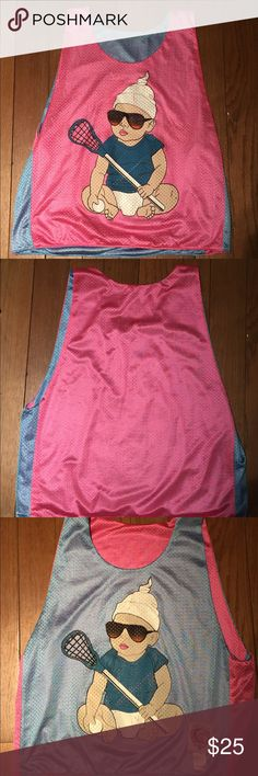 Lacrosse Pinny This Pink/Blue reversible Pinny is one of my favorite athletic pieces, I'm willing to sell it now but I might change my mind so grab it while you can! Tribe Lacrosse Tops Muscle Tees
