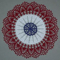 Hand-Crochet-Vintage-Style-July-4th-Doily-10-25cm