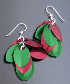 Christmas Earrings with Scales