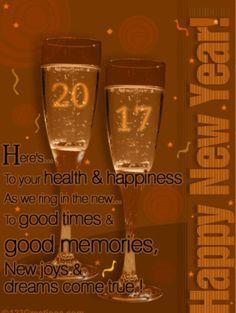 2017 Happy New Year Cups Greetin