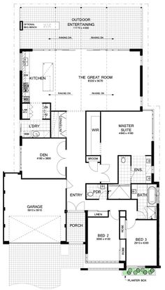 A stunning breeze block façade creates privacy and nods to the past. A light, spacious interior gives a holiday feel - experience the Fresno today! Simple House Plans, Best House Plans, Circle House, One Storey House, Cottage Plan, Cottage Ideas, I Love House, Vintage House Plans, Contemporary House Plans
