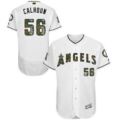 c103cb1fd Buy Los Angeles Angels Of Anaheim Kole Calhoun White Flexbase Authentic  Collection Memorial Day Stitched MLB Jersey Lastest from Reliable Los  Angeles Angels ...