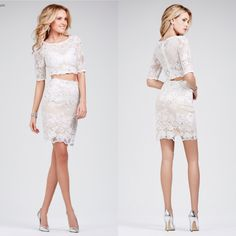 Jovani 26704 is arriving next week! Pre-order this hot two piece before it sells out. Available in White and Black.