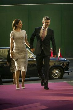 25 June 2014 Members of the Danish Royal Family attended a gala performance at the Royal Theatre in Copenhagen