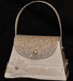 Sizzix die cut petite purse die!  For the bride.  How would like to get your engagement ring in this cute purse...grooms to be out there, this could be for you!  www.stampinjenn.typepad.com