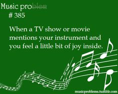 And then that little bit of joy gets crushed out of you once you see the actors try to fake play something, and they do it oh so wrong. MASH, driving over French horn and their players hearts Funny Band Memes, Marching Band Memes, Band Jokes, Bad Memes, Music Jokes, Music Humor, I Love Music, Music Is Life, Big Music