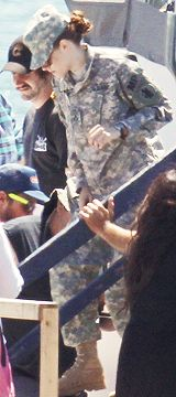 Kristen filming Camp X-Ray