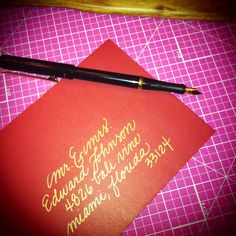 I'd really like to do my own invitations, and I have a calligraphy set so I'm considering doing this for something at least.