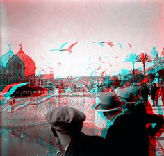 A holiday at the riviera 1930s (anaglyph)
