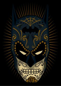 2 of my favourite things in 1! BATMAN SUGAR SKULL on Behance