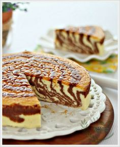 Souffl� Japanese Zebra Cheesecake by anncoojournal