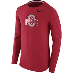 Ohio State Buckeyes Nike Player Top Performance Long Sleeve T-Shirt - Heather Scarlet - $64.99