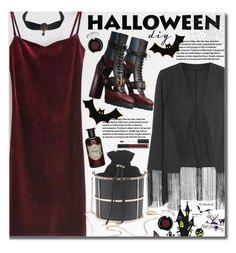 """DIY Halloween Costume"" by beebeely-look ❤ liked on Polyvore featuring Burberry, tarte, Anastasia Beverly Hills, Halloween, velvet, sammydress, halloweencostume and DIYHalloween"