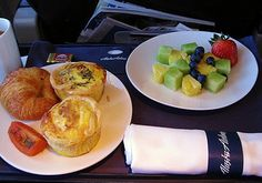Alaska Airlines First Class Breakfast. First Class Flights, Alaska Airlines, Breakfast Menu, Traveling Tips, Grubs, Airports, Airplanes, Great Recipes, Prayer