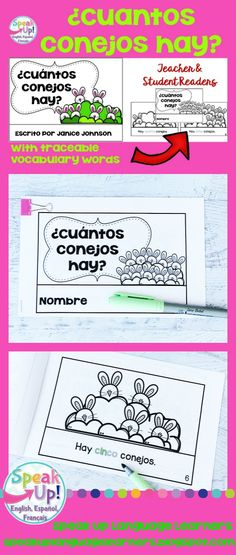 Spanish Number/Counting Bunny Readers {¿Cuántos conejos hay?} contar los números del 1-10