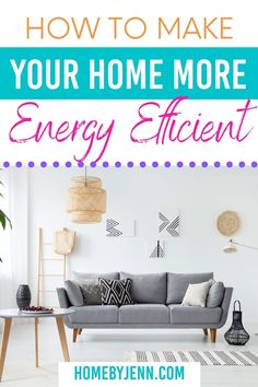 Learn how to make your home more energy efficient. There are simple things you can do to increase your home's efficiency that will also save you money. Let's look at some low-cost savings you can implement today. via @homebyjenn Garbage Waste, Getting Organized At Home, Electricity Usage, Cleaning Hacks, Cleaning Routines, Yard Waste, Organization Hacks, Organizing, Cost Saving