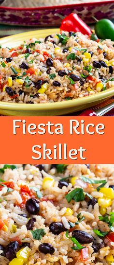 Fiesta Rice Skillet There are so many similar side dish recipes out there, it can be hard to find one that stands apart. Don't worry, we've got you covered with this easy Fiesta Rice Skillet! The black beans and fresh salsa give it a bold flavor Taco Side Dishes, Mexican Side Dishes, Side Dishes For Chicken, Best Side Dishes, Healthy Side Dishes, Side Dish Recipes, Food Dishes, Side Dishes With Tacos, Dishes With Rice