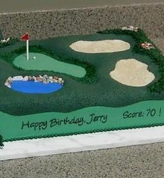 golf course cake ideas