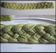 Opaska z włosy ze starej koszulki i gumki,  zielona www.facebook.com/BransoletkizMuliny www.jagodagorna.com
