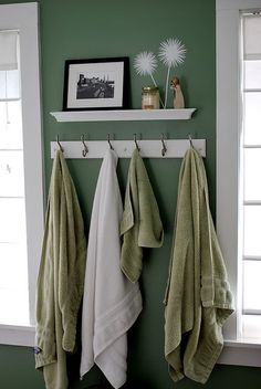 for the Master bathroom...would be much more useful than our current towel rod :( Towel Rack by newlywoodwards, via Flickr