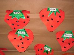 Each child wrote what they would turn thier food into!  The Big Hungry Bear,   Growing Strawberries