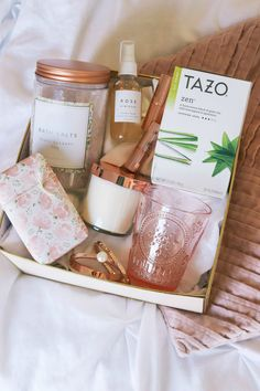 """This """"things will get better"""" gift idea is guaranteed to cheer up your friend when they're feeling low and put a smile on their face. Click through this pin to see everything to include in this unique gift basket featuring Tazo Zen green tea! Gift Baskets For Women, Diy Gift Baskets, Gifts For Women, Gifts For Her, Gift Basket Ideas, Gift Ideas For Women, Birthday Gift Baskets, Tea Gifts, Party Gifts"""