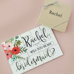 Bridesmaids Gift | Bridesmaid | Gift | Wedding Ideas | Shabby Chic | Flowers | Pretty | Personal | Wedding Preparations | Asking Bridesmaid