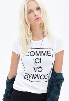 Comme Ci Comme Ca Tee #F21StatementPiece I want iiit!!!