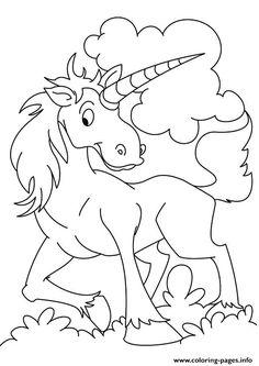 Print Kilin Unicorn Coloring Pages