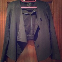 Black Jessica Simpson blazer Edgy, nice cut, has buttons, (stylize blazer in different ways) Jessica Simpson Jackets & Coats Blazers