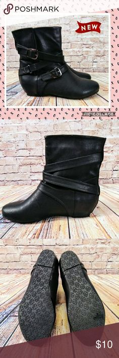 🔖 Wild Diva Lounge Booties Black, Size 6.5, In Excellent  Condition. Wild Diva Lounge Shoes Ankle Boots & Booties