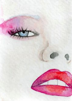 Faces of Fashion Original Fashion Illustration ACEO -- original ACEO watercolor painting Collage, Painting Inspiration, Art Inspo, Drawing Sketches, Art Drawings, Crayon, Watercolor Paintings, Ink Painting, Watercolors