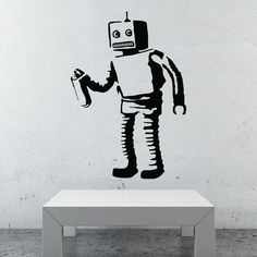 Banksy Robot wall decal