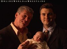 Shane McMahon,Vince McMahon, and Declan McMahon Photo: This Photo was uploaded by Stephanie Mcmahon Hot, Linda Mcmahon, Shane Mcmahon, Wrestlemania 20, Mcmahon Family, Wwe Couples, Wwe Tna, Baby Blessing, Families Are Forever