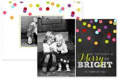 Very Merry Modern Christmas Card Templates by Jamie Schultz Designs