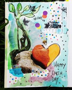 Day 4 #happyearthday #happyearthday2016 #100dayproject #100daysofmyajcollage #artjournal #artworkoftheday #artcollage #collagepaper #instacreativity #journalpage #collage #scketchbook