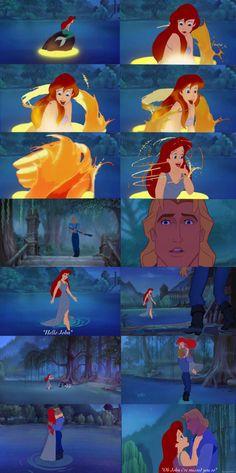 John Smith and Ariel Swan Princess  disney edit