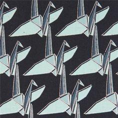 http://www.kawaiifabric.com/en/p7254-dark-blue-Origami-crane-metallic-Canvas-fabric-Kokka-Japan.html