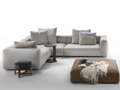 Corner upholstered fabric sofa with removable cover Lario Collection by FLEXFORM | design Antonio Citterio