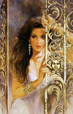 The Enchantress ~ who is she waiting to see arrive at her door?  B.