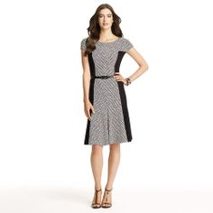Anne Klein: Dresses > Work > Fit and Flare Dress