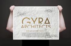 Identidad corporativa y poster de Gyra Arquitectos.
