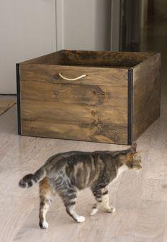 Jenna Sue: Studio Updates: DIY Industrial wood crate & hidden desk storage